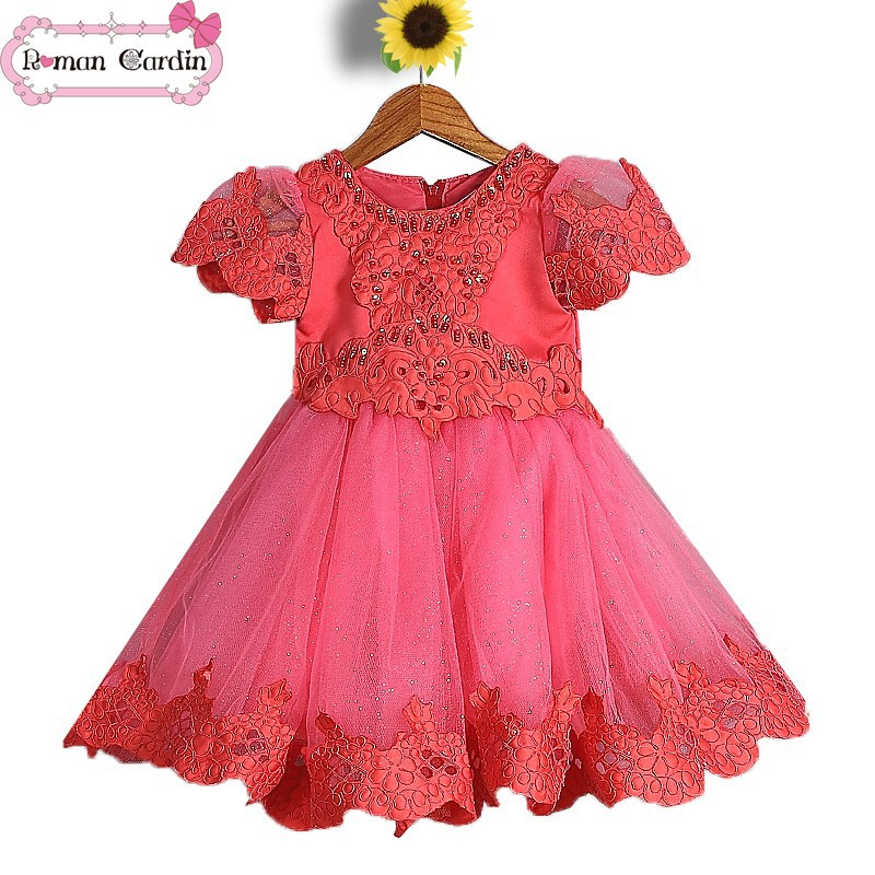 pakistan fashion girls dress 2014 children wholesale smocked dresses01