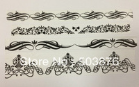 15mm*10m and 30mm*10m  4 rolls/lot Beautiful black and white multi-style lace and paper tape suit sticker album