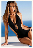 2013 New Fashion Sexy woman bikini one piece monokini victoria swimwear swimsuit beachwear black maternity clothing set printing