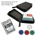 200pcs 4g poker chip set in a black nylon bag, chip set, free shipping