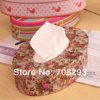 2014 NEW Elegant and beautiful sheet iron tissue box tissue pumping oval 100 pumping tissues box 16.4X16.7X5.9CM 1PCS/SET