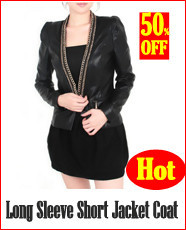 Long Sleeve Short Jacket Coat