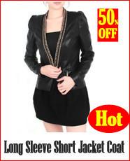 Long Sleeve Short Jacket Coat