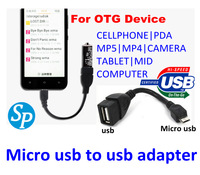 usb to Micro USB OTG  Connect Kit  Cable for Samsung Galaxy S2 S3 S4 i9500 i9300 i9100 Note N7000 i9220 OTG Cable Adapter Black