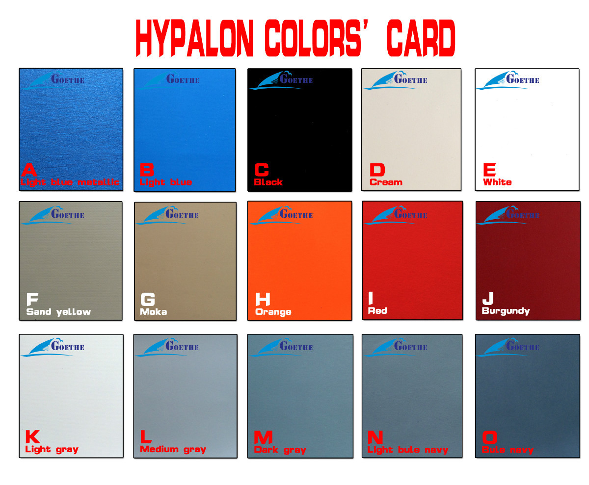 hypalon color card