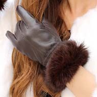 Rabbit-fur-thermal-thin-gloves-autumn-and-winter-women-s-genuine-leather-gloves-fashion-sheepskin-gloves