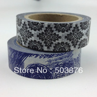 2 rolls/lot 15mm*10m Colorful Picture Double Decorative Washi Paper Tape scrapbooking album photo