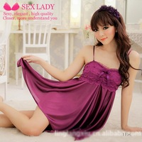 Wholesale Europe Taobao explosion models selling sexy lingerie + thong strap purple black