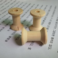 Free shipping Zakka Wholesale Wooden Classic style size 2.1x2.9cm DIY tool Wooden Spool 50pcs/lot