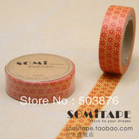 15mm*10m 4 rolls/lot Multicolor five floral series set decorative tape sticker album