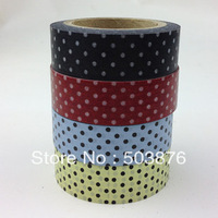 4 rolls/lot 15mm*10m Floral Yellow Washi Tape Dot Paper Decorative Tape Set DIY Photo Frame