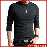 FREE shipping & gift 2012 NEW Men's t-shirt/Korean slim O-neck cotton long sleeve grandad top/extra large XXL 4-color SALE C122