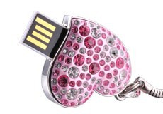 Usb-flash-drive-heart-diamond-4g-usb-flash-drive-waterproof-4g-usb-flash-drive