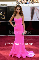 Wholesale - Delicate Hot Pink Sweetheart Maria Menounos Academy Awards Dresses 2013 Celebrity Mermaid Red Carpet