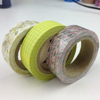 15mm*10m 3pcs/lot Paper tape stationery graden style diy decoration tape