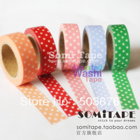 15mm*10m  5 rolls/lot Black and white Solid color paper tape necessary underside sticker album