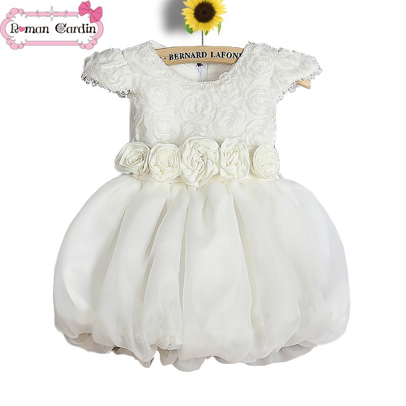 wedding dress with 34 lace sleeves dresses for girls of 5 years old  fashion kids party wear girl dress01