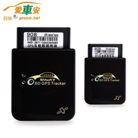 Super Power Car OBD2 OBDII GPS GSM GPRS Tracker Built-in Battery GM908, 7x24 Hours OBD2 Power Supply never stop to work