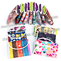 10pcs/lot Fashion Nonwoven fabrics folding shopping bag&Jacquard folded pouch,many color patterns mixed sales foldable handbag