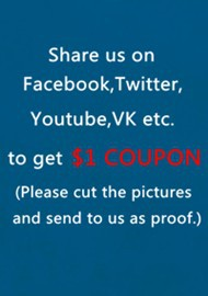 Share us and get $1 coupon 190