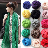 2013 women fashion design scarf  Pure cotton scarves female wild fold Spring winter autumn Korean women long scarf shawl
