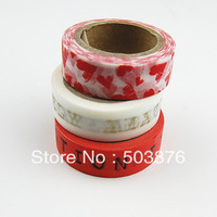 30mm*10m 3 rolls/lot Color English composition  paper tape / decoration tape / manual tape sticker album