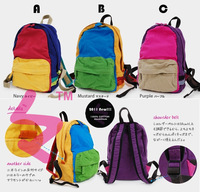 100% cotton canvas bag backpack child backpack boy female child casual bag