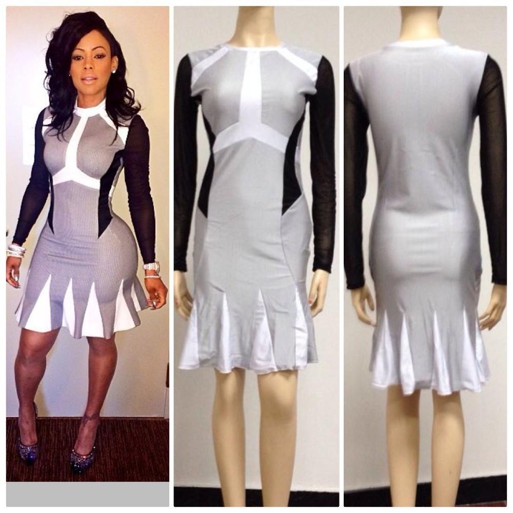 KK016-DHL-Fast-free-ship-2014-New-keyshia-kaoir-women-dresses-Sexy-Mesh-Lace-white-black