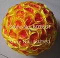 yellow-red-30cm-plastic-center-artificial-silk-wedding-kissing-decoration-flowers-ball-optional-color