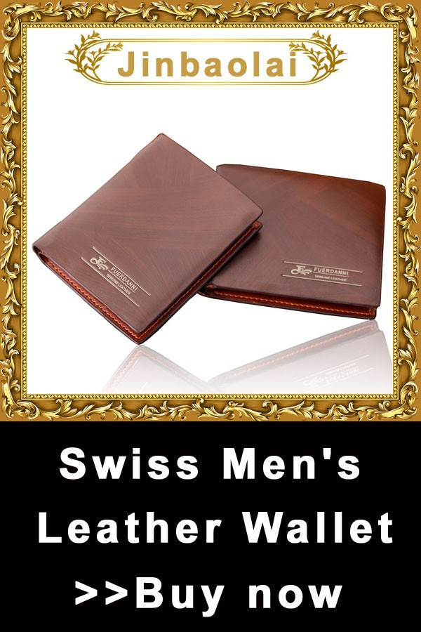 swiss men's leather bifold wallet