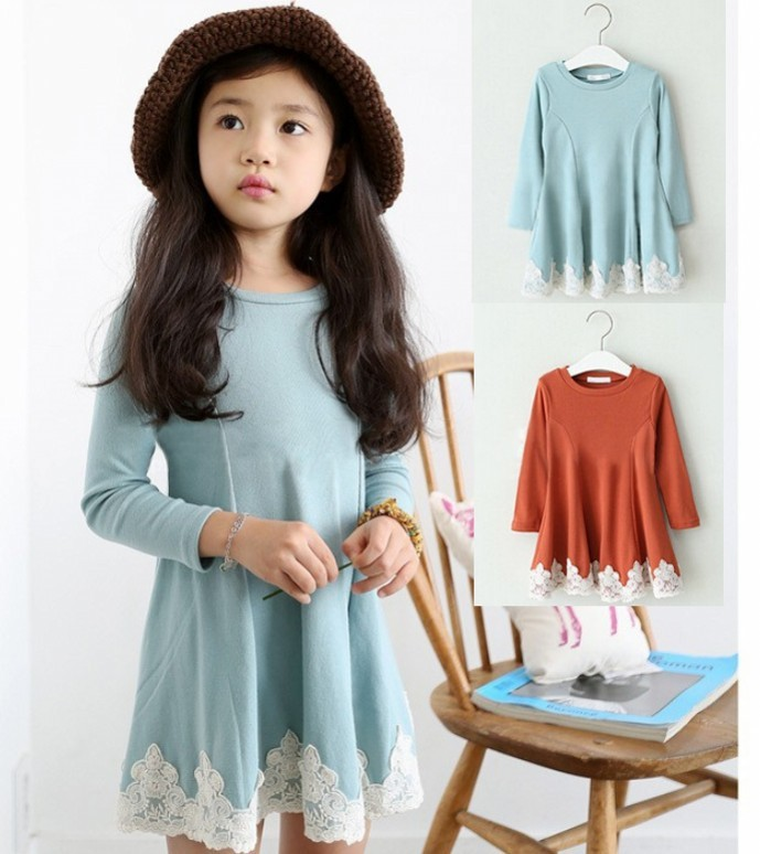 EMS-DHL-free-shipping-Little-girls-2-Colors-The-little-girls-new-Korea-Style-Spring-Autumn