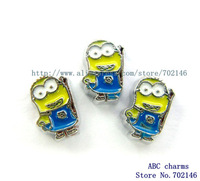 Free Shipping New Style 10pcs small yellow people Floating locket Charms Fit Floating lockets FC688