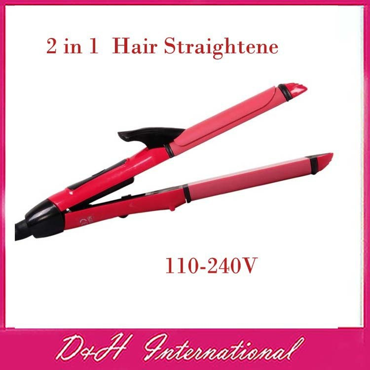 New-arrive-2-in-1-Hair-Straightening-Hair-Straightener-Iron-Hair-Curler-Free-drop-shipping