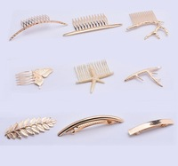 2016 Hot Sale Fashion Jewelry Women Hair Accessories Gold Plated Round Hair Clip Deer Butterfly Starfish HairPin Wholesale