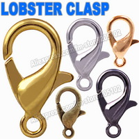 Mix Colors Sizes Lobster Clasp Hooks Gold Silver Rhodium Bronze for necklace bracelet chain DIY,Jewelry Accessory Findings Parts