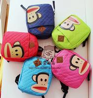 Child baby monkey school bag backpack  oxford fabric Kindergarten boys and girls  cartoon  leisure travel bag  Free Shipping