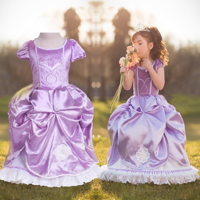 Free-shipping-New-2014-summer-wear-dresses-frozen-princess-elsa-dress-princess-dresses-for-children-girl