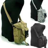 Molle Shoulder Bag Tool Mag Drop Pouch Tactical Military Shoulder Strap Bag Camera Cross Body Backpack Waist Bags