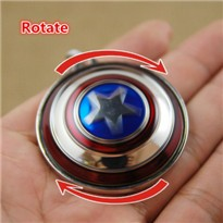 Rotatable-360-Version-Captain-America-Shield-Keychain-marvel-key-chain-ring-car-auto-comic-movie-keyring