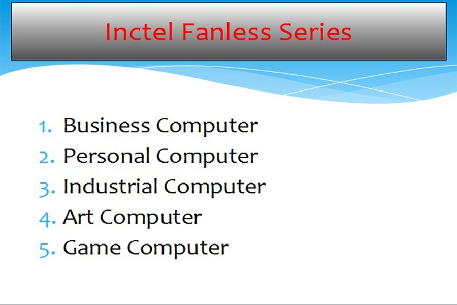 Inctel fanless pc
