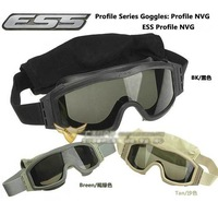 High quality ESS Profile NVG Goggle Crossbow Outdoor Sports Army Bullet-proof goggles Tactical protection glasses 3 lens 1set