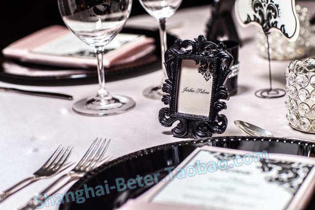 Black Baroque Style Place card holder