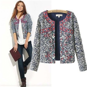 Hot-selling-fashion-winter-blue-and-white-porcelain-print-embroidery-wadded-jacket-cotton-padded-jacket-female