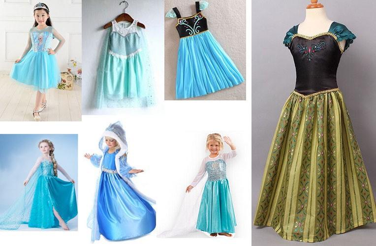 Retail-new-2015-hot-sale-baby-Girl-Frozen-Elsa-dress-Spring-children-Princess-casual-dress-kids