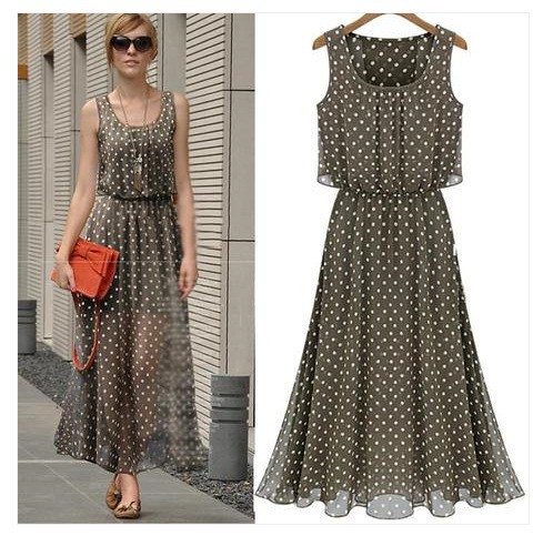 Fashion-Brand-Summer-vestido-de-festa-Long-party-dresses-Polka-Dot-Casual-Women-maxi-chiffon-Dress
