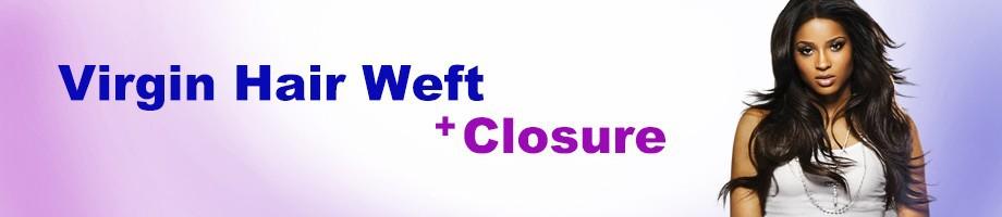 Virgin hair weft+closure2
