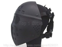 Full Face ICE Hockey Type Helmet Airsoft Mesh Tactical Mask Goggles For Airsoft Paintball Party Cosplay Masks
