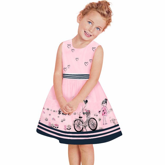 Beautiful-2015-brand-summer-little-girl-dress-sleeveless-character-pattern-children-print-clothing-cute-Casual-dresses