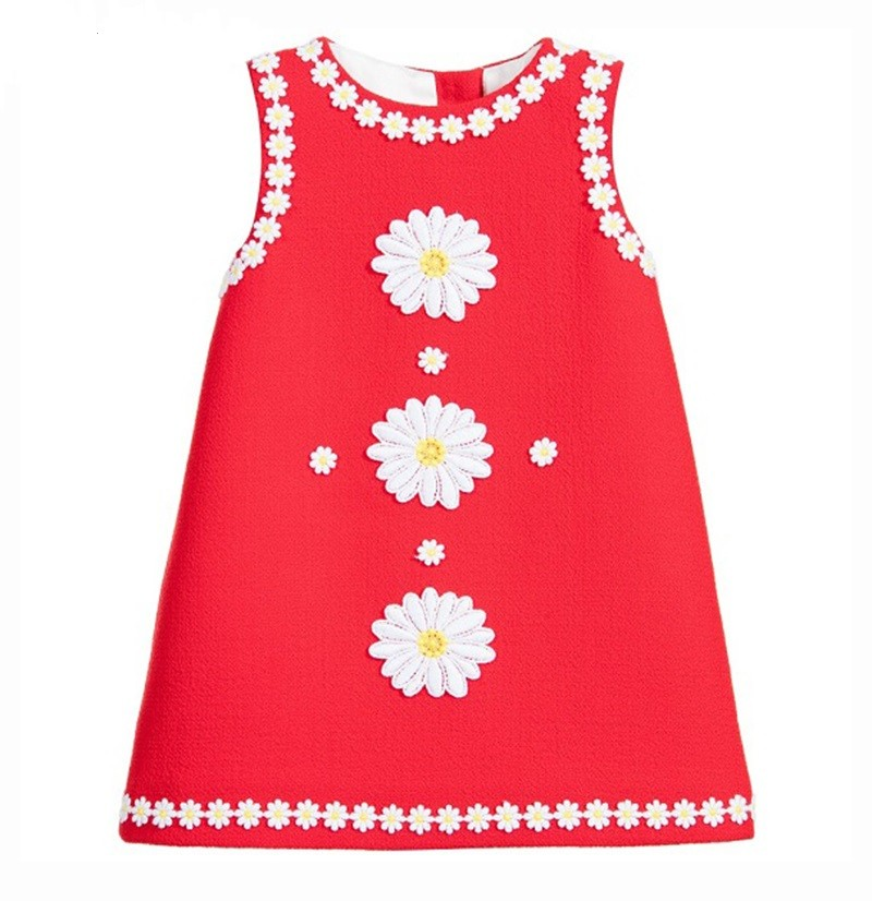 Baby-Girl-Dress-2016-Spring-Brand-Designer-Princess-Dress-Girl-Costume-Daisy-Flower-Kids-Dresses-for