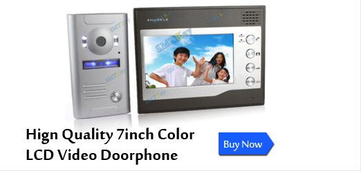 zhudele 7 inch video doorphone
